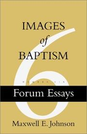 Cover of: Images of Baptism (Forum Essays, No. 6)