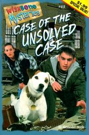 Cover of: Case of the Unsolved Case (Wishbone Mysteries (Paperback))