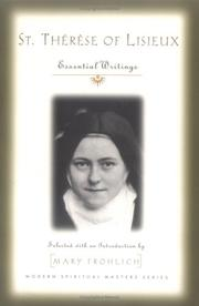 Cover of: St. Therese of Lisieux