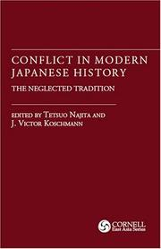 Cover of: Conflict in Modern Japanese History