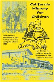 Cover of: California History for Children
