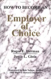 Cover of: How to Become an Employer of Choice
