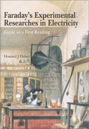 Cover of: Faraday's Experimental Researches in Electricity