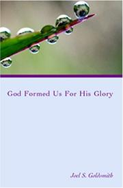 Cover of: God Formed Us for His Glory (Letters)