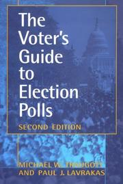 Cover of: The Voter's Guide to Election Polls (Voter's Guide to Election Polls (Paperback))