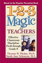 Cover of: 1-2-3 Magic for Teachers