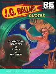 Cover of: J. G. Ballard: Quotes