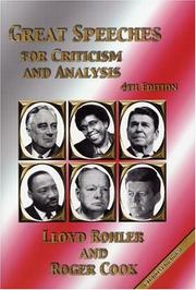 Cover of: Great Speeches for Criticism and Analysis, Fourth Edition