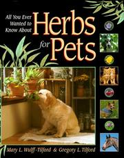 Cover of: Herbs for Pets