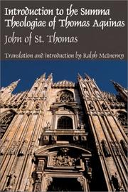Cover of: Introduction to the Summa Theologiae of Thomas Aquinas