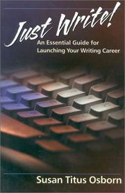 Cover of: Just Write