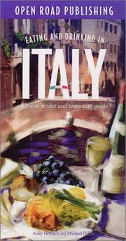 Cover of: Eating and Drinking in Italy
