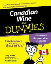 Cover of: Canadian Wine for Dummies