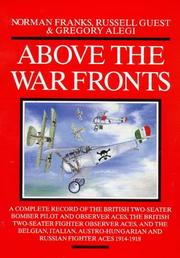 Cover of: Above the War Fronts