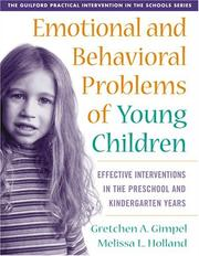 Cover of: Emotional and Behavioral Problems of Young Children