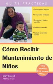 Cover of: Como Recibir Mantenimiento de Ninos