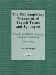 Cover of: The Contemporary Thesaurus of Search Terms and Synonyms