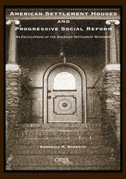 Cover of: American Settlement Houses and Progressive Social Reform