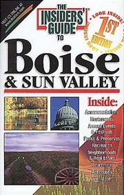 Cover of: The Insiders' Guide to Boise and Sun Valley