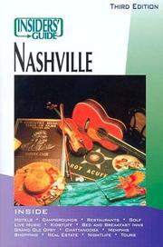 Cover of: Insiders' Guide to Nashville