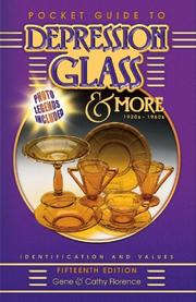 Cover of: Pocket Guide to Depression Glass & More 1920s-1960s (Pocket Guide to Depression Glass & More)