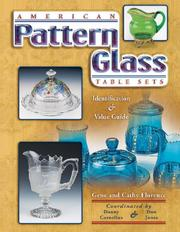 Cover of: American Pattern Glass Table Sets