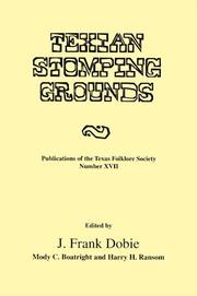 Cover of: Texian Stomping Grounds (Publications of the Texas Folklore Socie Series, 17)