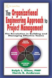 Cover of: The Organizational Engineering Approach to Project Management