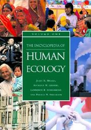 Cover of: The Encyclopedia of Human Ecology (2 vol. set)