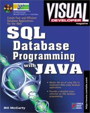 Cover of: Visual Developer SQL Database Programming with Java