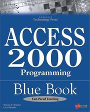 Cover of: Access 2000 Programming Blue Book