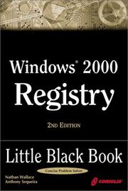 Cover of: Windows 2000 Registry Little Black Book, 2nd Ed.