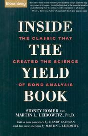 Cover of: Inside the yield book