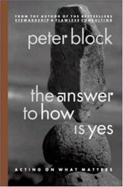 Cover of: The Answer to How Is Yes