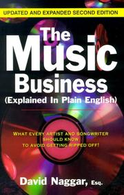 Cover of: The Music Business (Explained In Plain English)