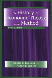 Cover of: A History of Economic Theory and Method