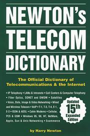 Cover of: Newton's Telecom Dictionary 15 Ed