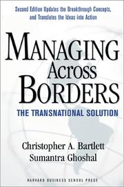 Cover of: Managing Across Borders
