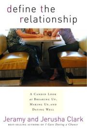 Cover of: Define the Relationship