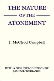 Cover of: The Nature of The Atonement