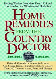 Cover of: Home Remedies from the Country Doctor