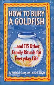Cover of: How to Bury a Goldfish