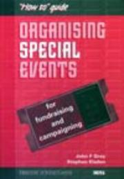 "Cover of: Organising Special Events (""How To"" Guide)"