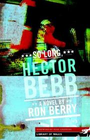 Cover of: So Long, Hector Bebb (Library of Wales)