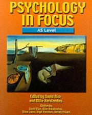 Cover of: Psychology in Focus AS Level