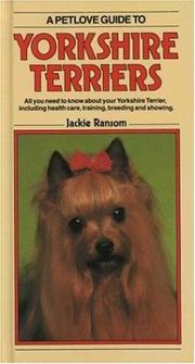 Cover of: Yorkshire Terriers
