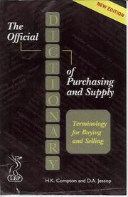 Cover of: Dictionary of Purchasing and Supply