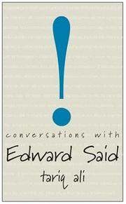 Cover of: Conversations with Edward Said (Conversations With)