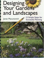 Cover of: Designing Your Gardens and Landscapes
