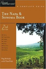Cover of: The Napa & Sonoma Book